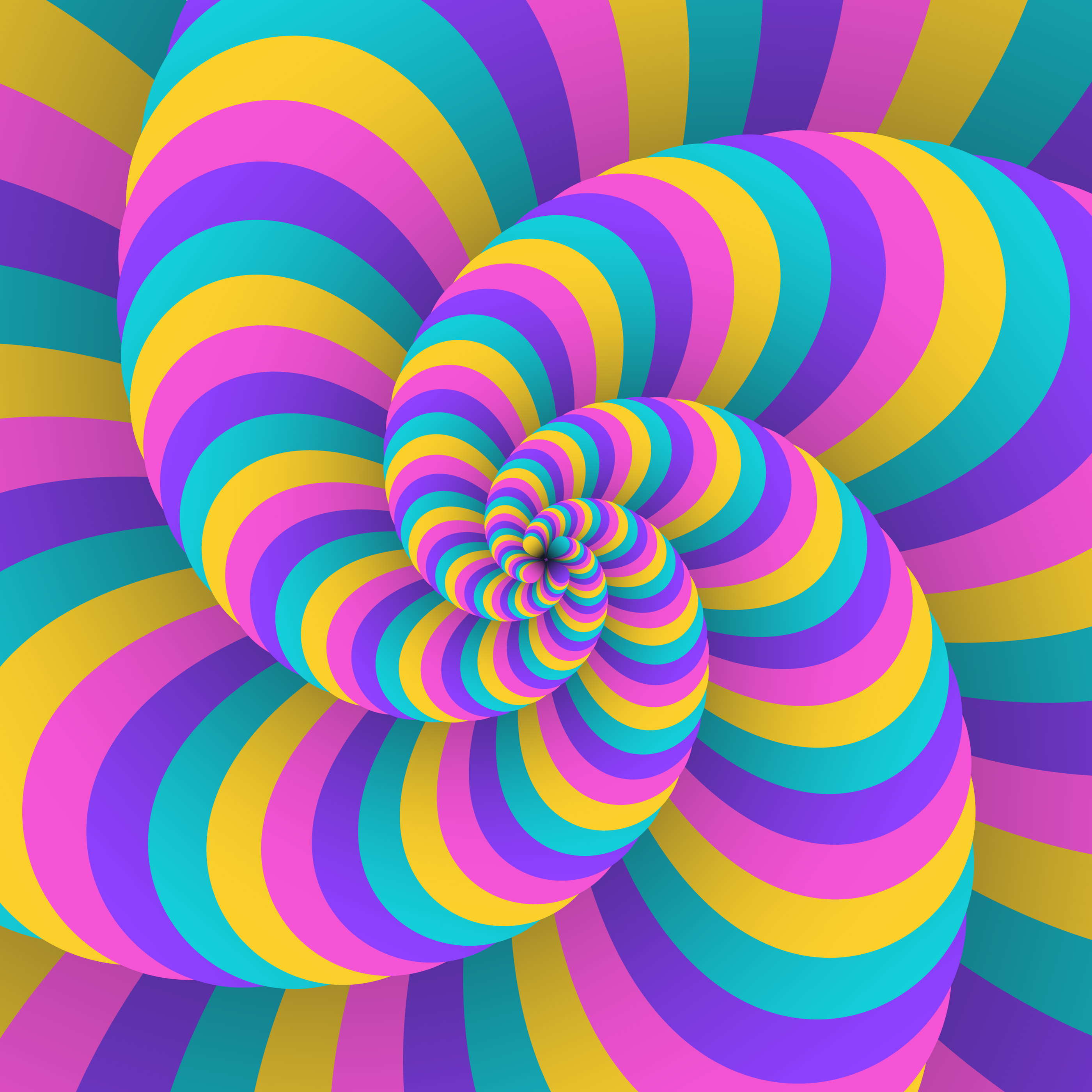 3D Swirl Circular Movement Illusion Background
