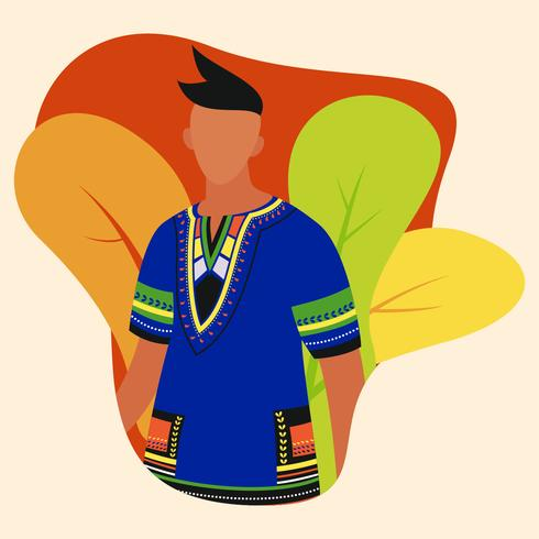 man in dashiki vector