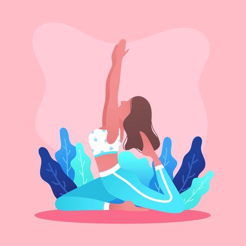 Yoga Class Vector