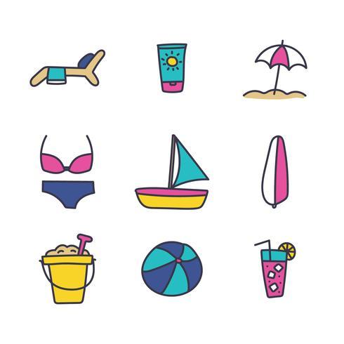 Beach Activities Icons