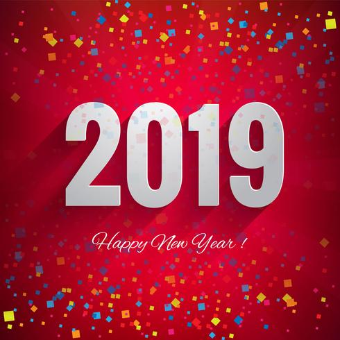 2019 Happy New Year celebration background  vector