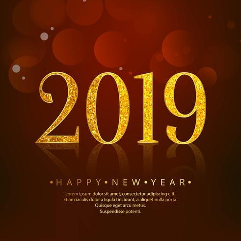 2019 Gelukkig Nieuwjaar viering achtergrond