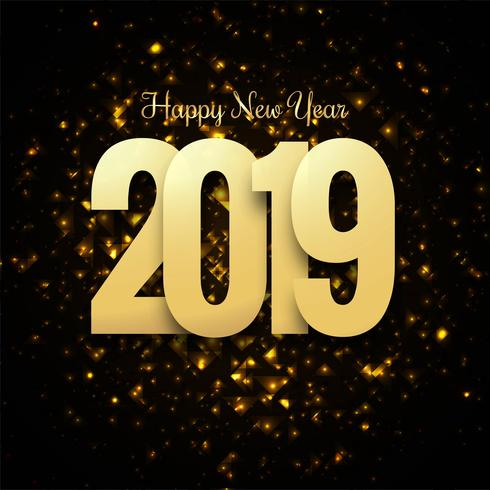 Belo feliz ano novo 2019 projeto de texto