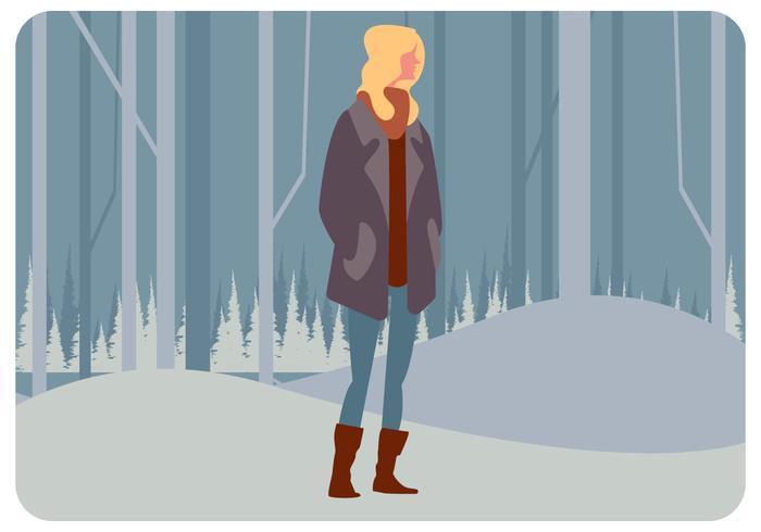winter model meisje vector