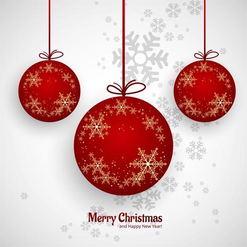 Vacker god jul boll dekorativa bakgrund vektor