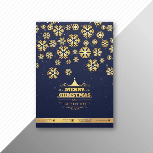 Beautiful party marry christmas brochure template festival desig