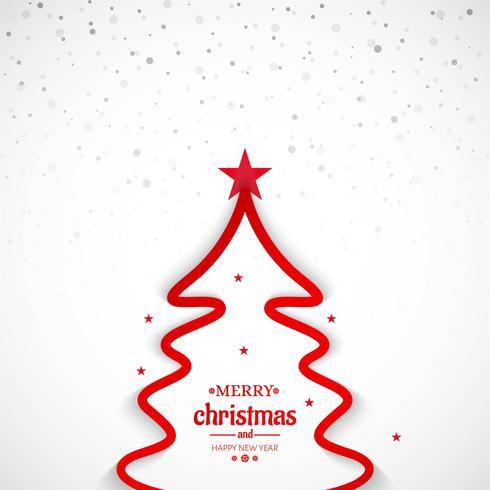 Merry christmas minimal line tree background