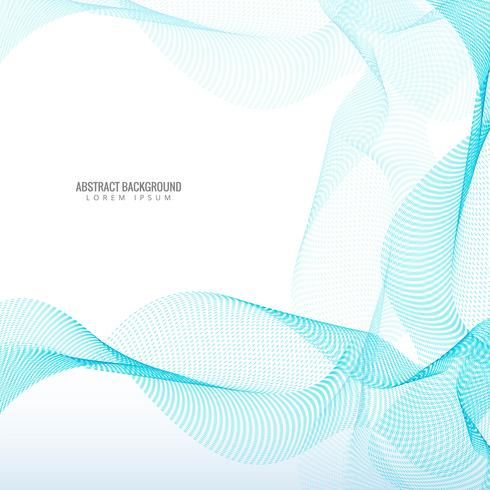 Schöner blauer stilvoller punktierter Wellenhintergrund