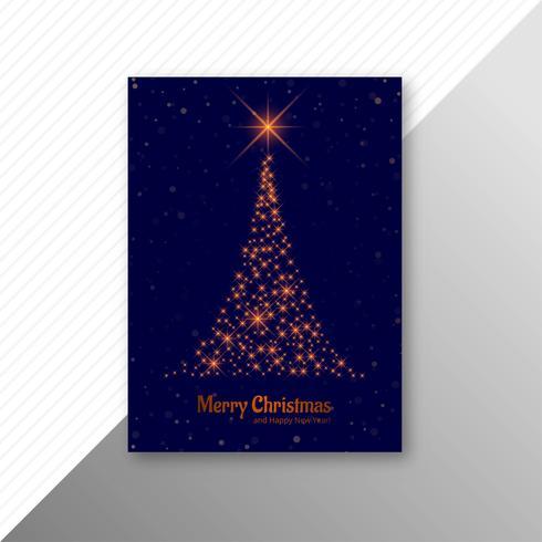Casar com design de modelo de folheto de árvore de Natal vetor