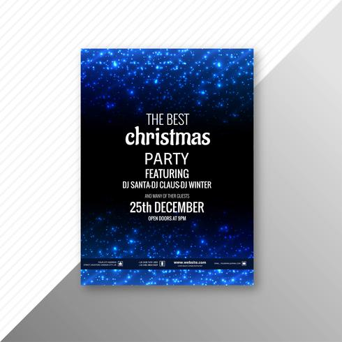 Beautiful merry christmas card brochure party template design vector