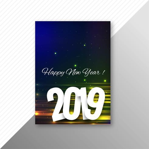 Beautiful 2019 flyer template design vector