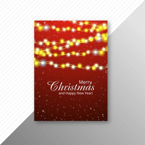 Diseño de plantilla de volante de luces coloridas de Navidad