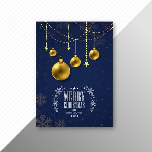 Vacker fest gifter sig med julbroschyrmallfestivalen desig vektor