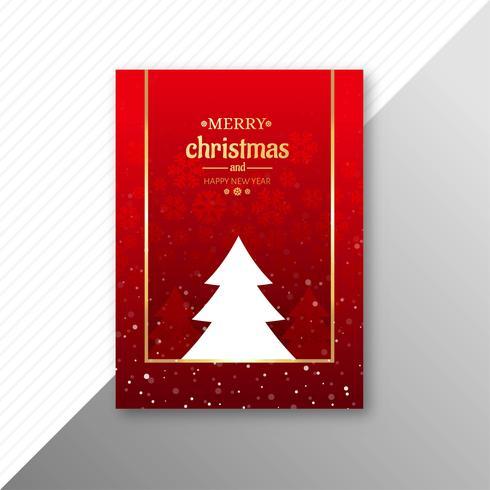 Vacker festivals glatt julmall broschyrdesign vektor
