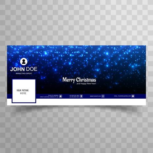 Joyeux Noël brille brillant modèle de bannière facebook design