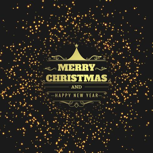 Modern merry christmas glitters background