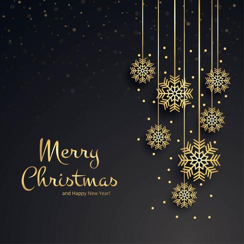 Beautiful merry christmas snowflake card background