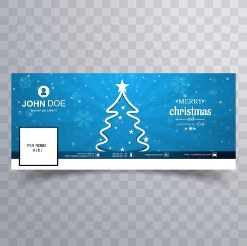 God julgran med facebook banner mall