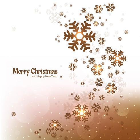 Dekorativer Hintergrund der frohen Weihnachten der Schneeflocke