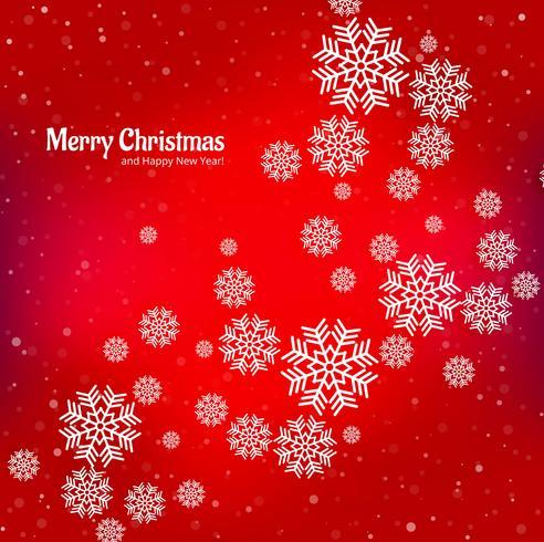 Snowflake dekorativa glada julkort bakgrund