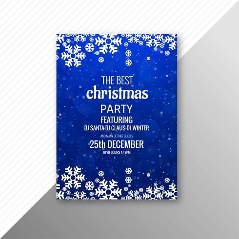 Casar com design de modelo de panfleto de festa de Natal