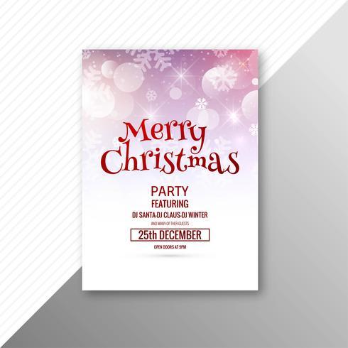 Elegante, celebração, feliz natal, modelo, folheto, desenho