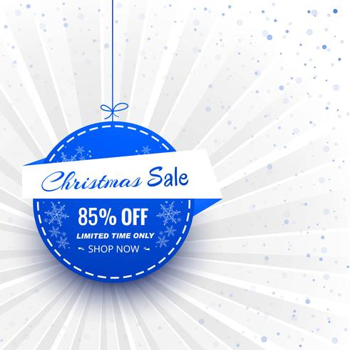Beautiful merry christmas ball card background vector