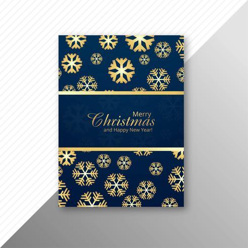 Marry christmas snowflake brochure template design