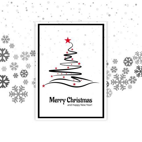 Gott julkort kort med snöflinga bakgrund vektor