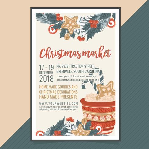 vektor julmarknad affisch