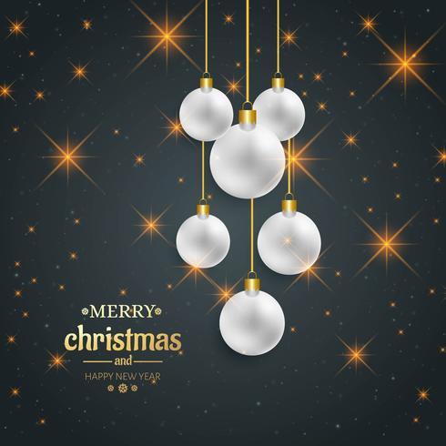 Fondo decorativo hermoso de la feliz Navidad bola