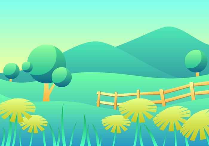 Dandelion Spring Landscape Vector