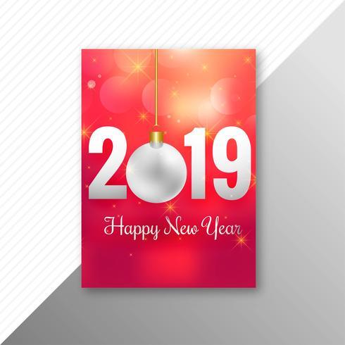 Happy New Year 2019 brochure template design