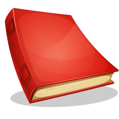 Livre rouge isolé sur blanc vecteur