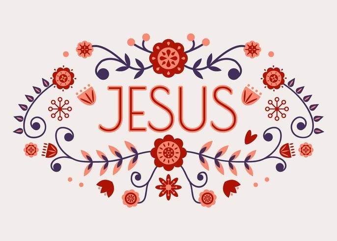 Jesus Typography Vector