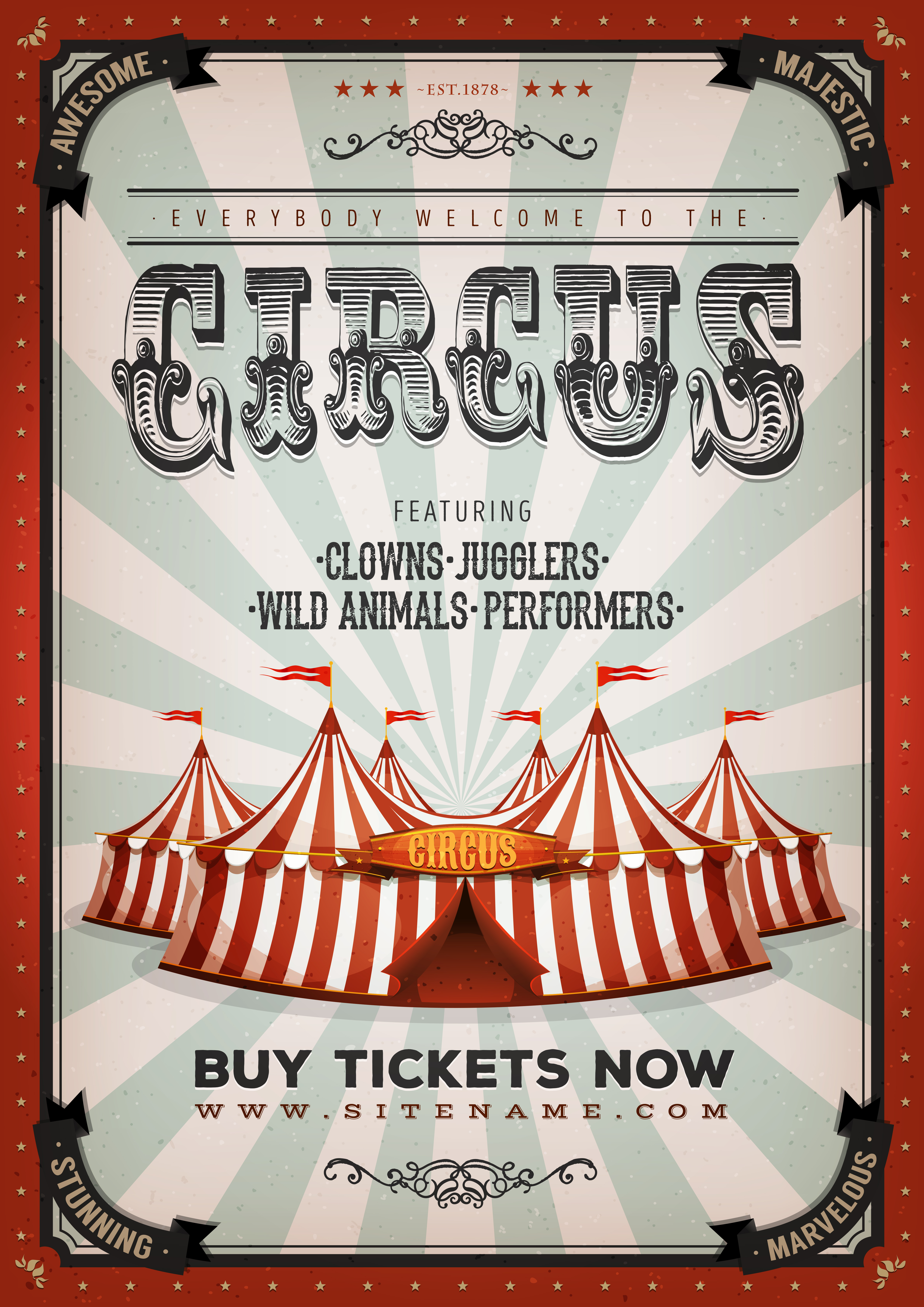 Vintage Circus Background Download Free Vectors Clipart Graphics Amp Vector Art