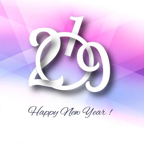 2019 feliz ano novo fundo de celebração