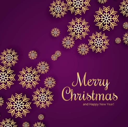 Beautiful merry christmas snowflake card background vector