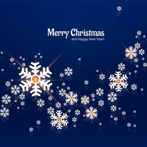 Snowflake decorative merry christmas background