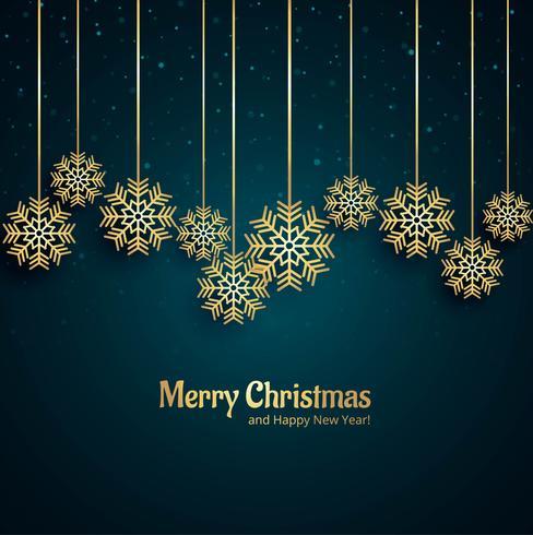 Vacker glatt jul dekorativt snöflinga bakgrund