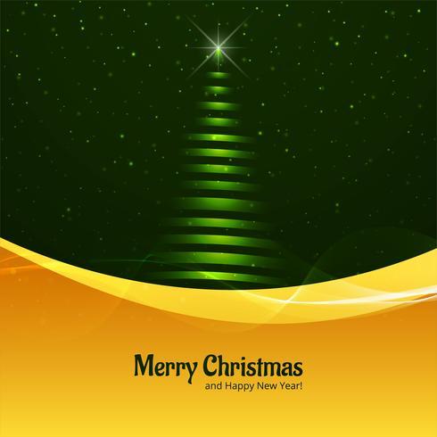 Fondo hermoso del árbol de navidad feliz de los brillos