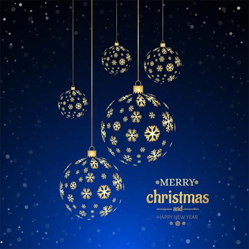 Fundo decorativo de bola de Natal feliz vetor