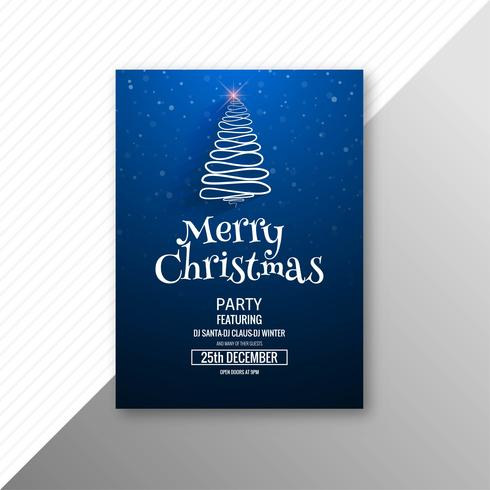 Modelo de festa feliz Natal árvore cartão brochura