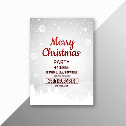 Fondo de plantilla de folleto de tarjeta de celebración de feliz Navidad