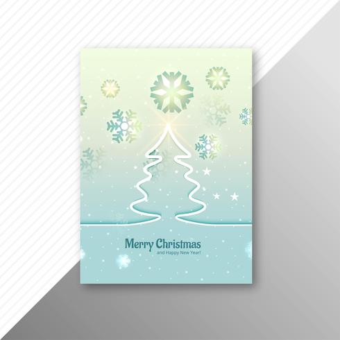 Casar com design de modelo de folheto de árvore de Natal