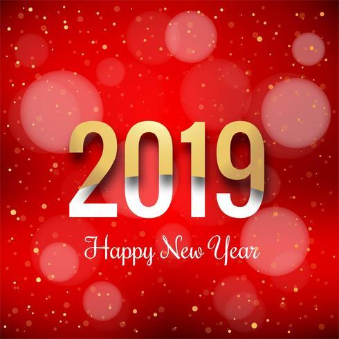 Felice anno nuovo 2019 con sfondo colorato coriandoli