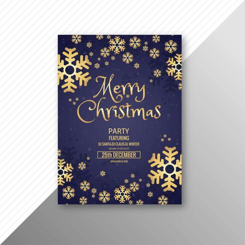 Conception de brochure modèle célébration joyeux Noël joyeux