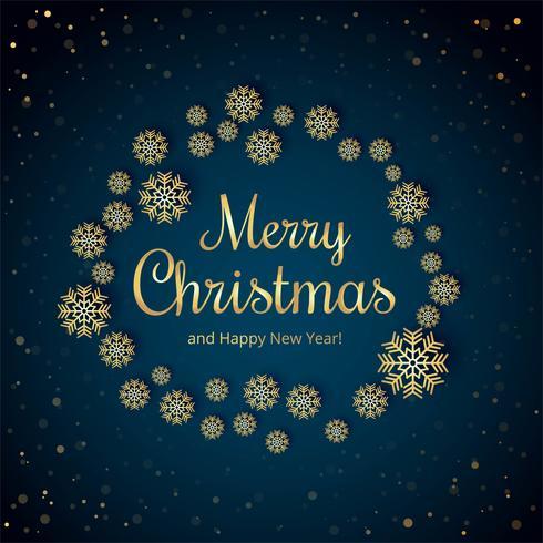 Fondo hermoso de la tarjeta del copo de nieve de la Feliz Navidad