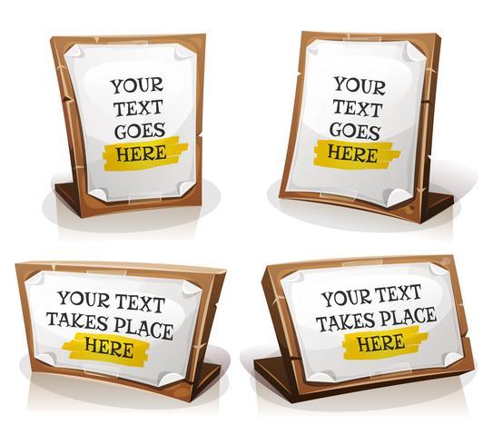 Witboektekens Op Houten Tablet