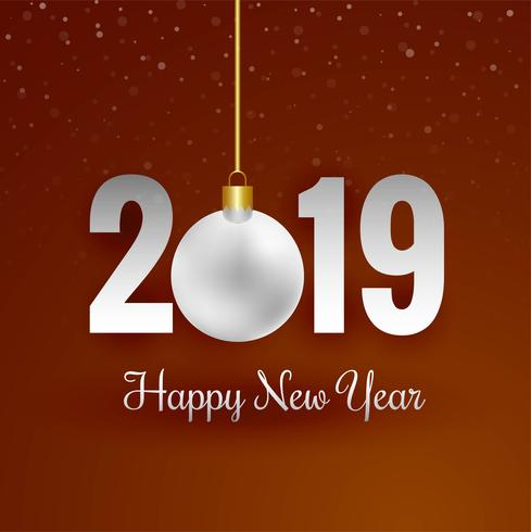 elegant 2019 happy new year card background